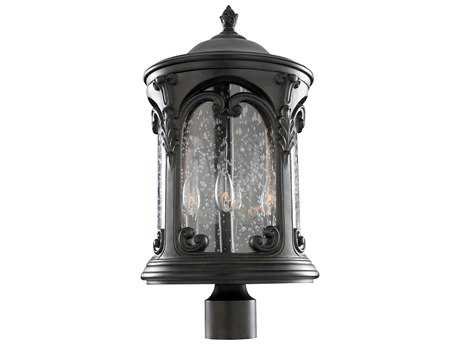 Kalco Lighting Shorecrest Burnished Bronze Four-Light 13'' Wide Outdoor Post Light