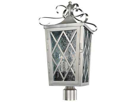 Kalco Lighting Trellis Brushed Stainless Steel Four-Light 12'' Wide Outdoor Post Light