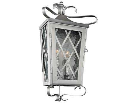 Kalco Lighting Trellis Brushed Stainless Steel Two-Light 10'' Wide Outdoor Wall Light