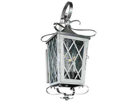 Kalco Lighting Trellis Brushed Stainless Steel Four-Light 10'' Wide Outdoor Wall Light
