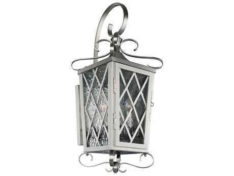 Kalco Lighting Trellis Brushed Stainless Steel Four-Light 12'' Wide Outdoor Wall Light