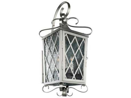 Kalco Lighting Trellis Brushed Stainless Steel Four-Light 14'' Wide Outdoor Wall Light