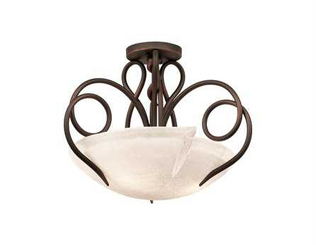 Kalco Lighting Tribecca Three-Light Semi-Flush Mount Light