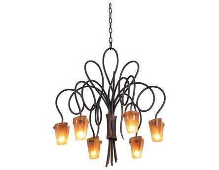 Kalco Lighting Tribecca Six-Light 25'' Wide Chandelier