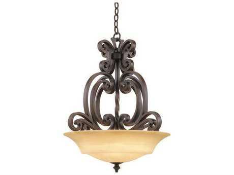 Kalco Lighting Hamilton Copper Claret Three-Light Pendant