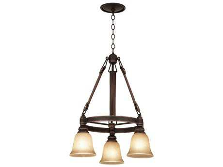Kalco Lighting Rodeo Drive Three-Light 24'' Wide Chandelier