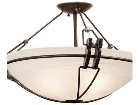 Kalco Lighting Grande Three-Light Semi-Flush Mount Light