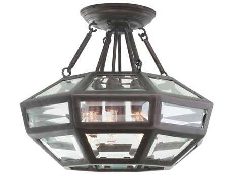 Kalco Lighting Pompano Heirloom Bronze Six-Light 16'' Wide Semi-Flush Mount Light