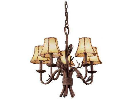 Kalco Lighting Ponderosa Ponderosa Five-Light 23'' Wide Mini Chandelier