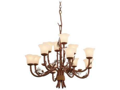 Kalco Lighting Ponderosa Ponderosa 12-Light 35'' Wide Chandelier