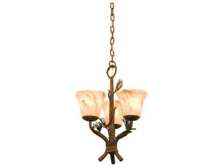 Kalco Lighting Ponderosa Ponderosa Three-Light 14'' Wide Mini Chandelier