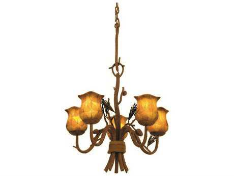 Kalco Lighting Ponderosa Ponderosa Five-Light 22'' Wide Mini Chandelier