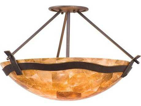 Kalco Lighting Aegean Tuscan Sun Three-Light 23'' Wide Semi-Flush Mount Light