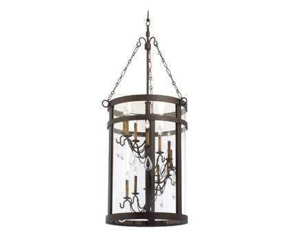 Kalco Lighting Morris Bronze 12-Light Pendant Lantern