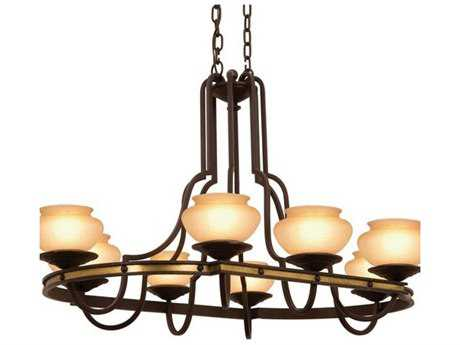 Kalco Lighting Durango Tawny Port Eight-Light 29'' Wide Grand Chandelier