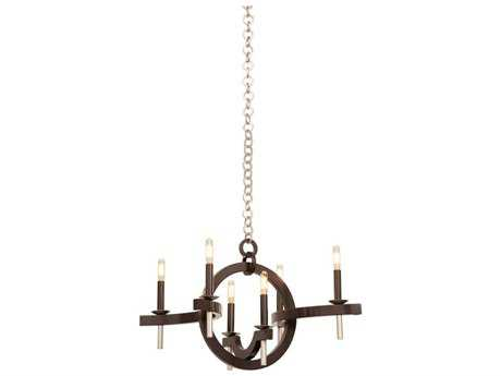 Kalco Lighting Lunaire Old Bronze Six-Light 17'' Wide Grand Chandelier