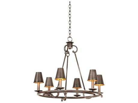 Kalco Lighting Fairford Vintage Iron Six-Light 27'' Wide Chandelier