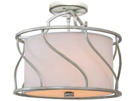 Kalco Lighting Helix Three-Light Convertible Semi-Flush Mount / Pendant Light