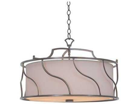 Kalco Lighting Helix Five-Light 24'' Wide Convertible Pendant / Semi-Flush Mount Light
