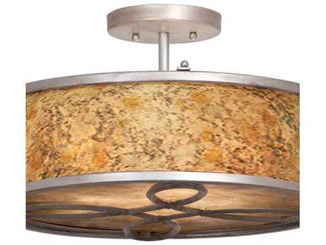 Kalco Lighting Whitfield Three-Light Semi-Flush Mount Light