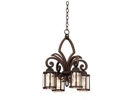 Kalco Lighting Keswick Antique Copper Four-Light 17'' Wide Chandelier