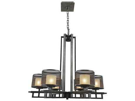 Kalco Lighting Stanley Volcano Bronze Six-Light 31'' Wide Chandelier