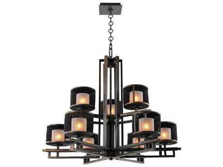 Kalco Lighting Stanley Volcano Bronze Nine-Light 33'' Wide Chandelier