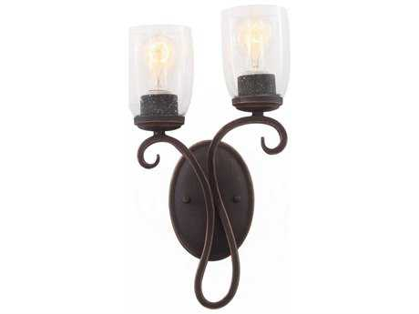 Kalco Lighting Castaic Antique Copper Two-Light Wall Sconce