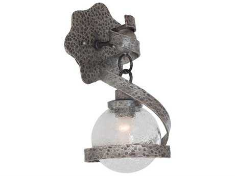 Kalco Lighting Odessa Hammered Silver Wall Sconce