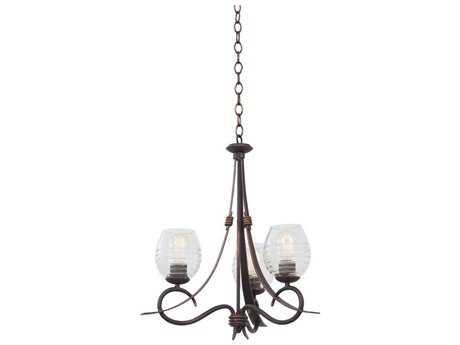 Kalco Lighting Seabrook Three-Light 21'' Wide Chandelier