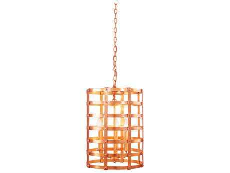 Kalco Lighting Townsend New Copper Three-Light 14'' Wide Pendant Light