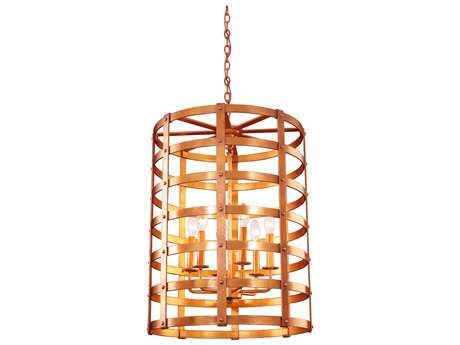 Kalco Lighting Townsend New Copper Six-Light 21'' Wide Pendant Light