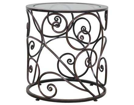 Kalco Lighting Windsor Antique Copper Indoor & Outdoor 22 Round Side Table