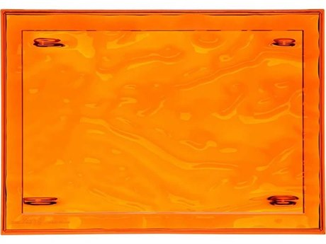 Kartell Outdoor Dune Orange 18'' Wide Tray (Sold in 4) PatioLiving