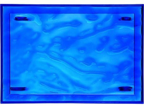 Kartell Outdoor Dune Blue 18'' Wide Tray (Sold in 4)
