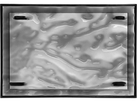 Kartell Outdoor Dune Smoke 18'' Wide Tray (Sold in 4)