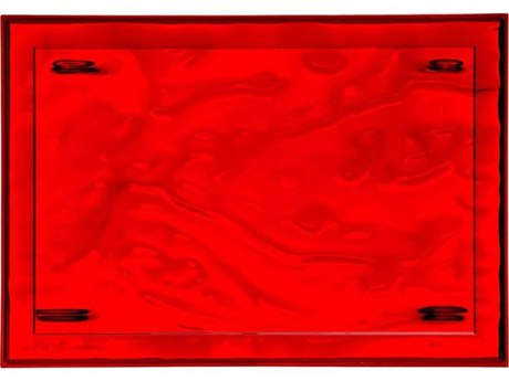 Kartell Outdoor Dune Red 18'' Wide Tray (Sold in 4) PatioLiving