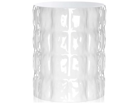 Kartell Outdoor Matelasse White Vase PatioLiving