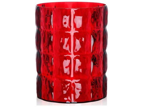 Kartell Outdoor Matelasse Red Vase PatioLiving