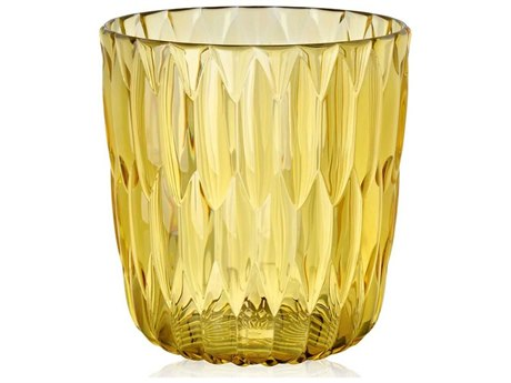 Kartell Outdoor Jelly Yellow Vase (Sold in 2)