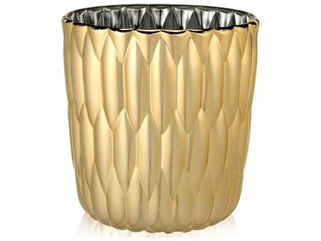 Kartell Outdoor Jelly Gold Vase (Sold in 2)