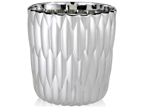 Kartell Outdoor Jelly Chrome Vase (Sold in 2) PatioLiving