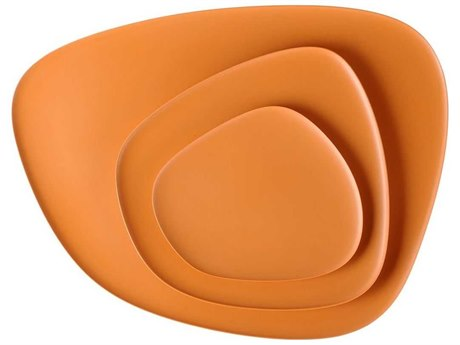 Kartell Outdoor Namaste Orange 17'' Wide Tray PatioLiving