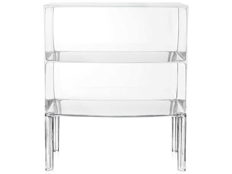 Kartell Outdoor Ghost Buster Transparent Crystal 26'' Wide Resin Rectangular Console Table