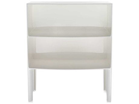 Kartell Outdoor Ghost Buster Opaque White 26'' Wide Resin Rectangular Console Table