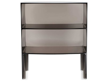 Kartell Outdoor Ghost Buster Transparent Smoke 26'' Wide Resin Rectangular Console Table