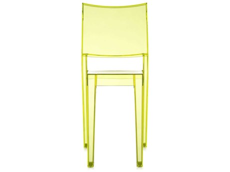 Kartell Outdoor La Marie Transparent Light Yellow Resin Dining Chair (Sold in 2)