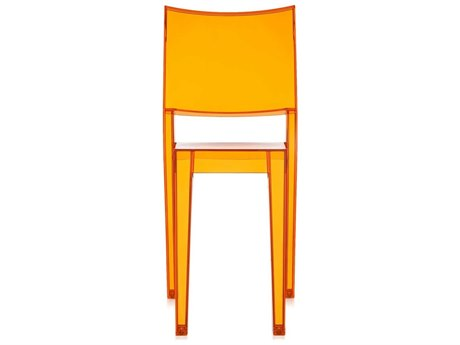 Kartell Outdoor La Marie Transparent Light Orange Resin Dining Chair (Sold in 2)