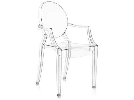 Kartell Outdoor Louis Ghost Crystal Resin Dining Chair (Sold in 4)