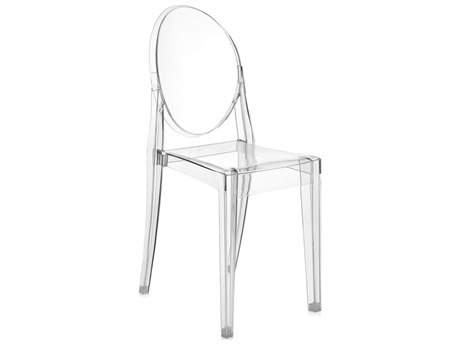 Kartell Outdoor Victoria Ghost Crystal Resin Dining Chair (Sold in 4)